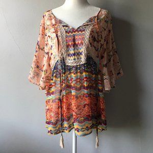2/$15 Meadow Rue Boho Top in Size Small